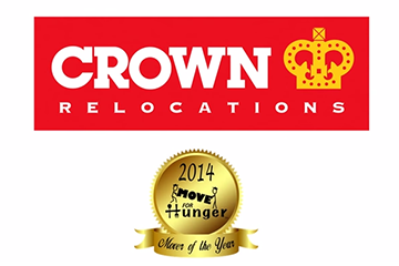 Move for Hunger names Crown Relocations New York their 2014 Mover of the Year