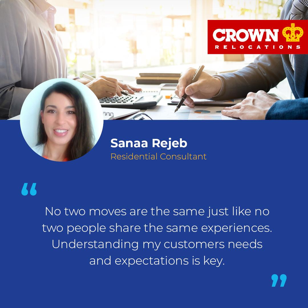 Crown Relocations consultant Sanaa Rejeb